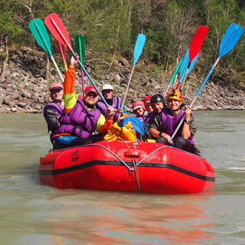 Rafting on the Katun river III-IV class